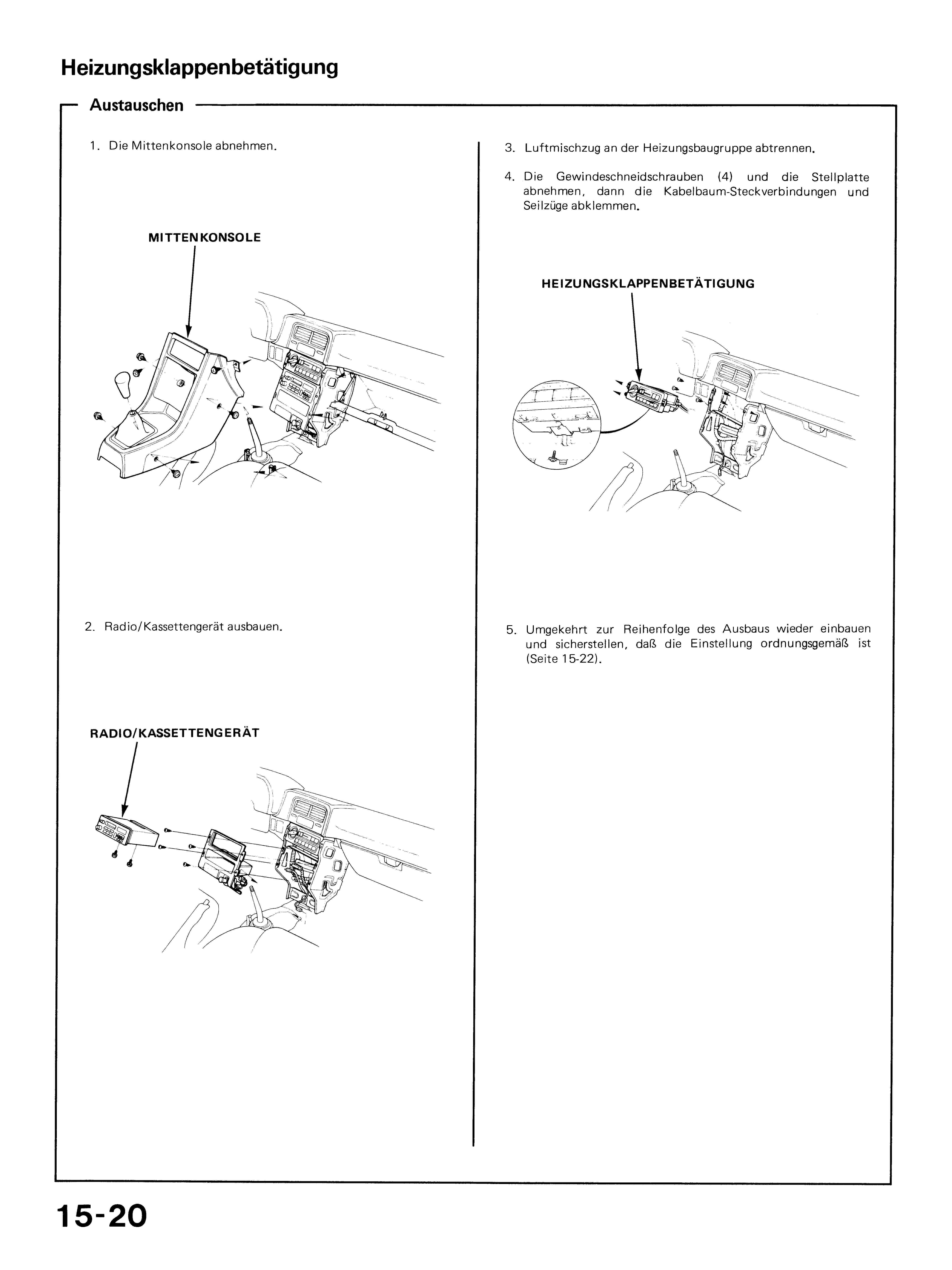 Heizungsbedienteil reparieren und LEDs einbauen - Honda CRX ...