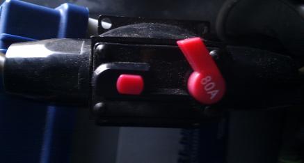 Honda CRX ED9 (D16Z5): Batterie Polklemme mit Unterbrecher und 80 A Sicherung