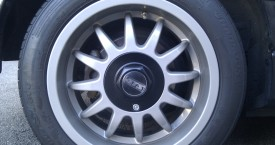 Honda CRX ED9 (D16Z5): ATS Alufelgen mit RAL 9007 lackiert und Hankook Ventus S1 evo 82V (195/50R15)