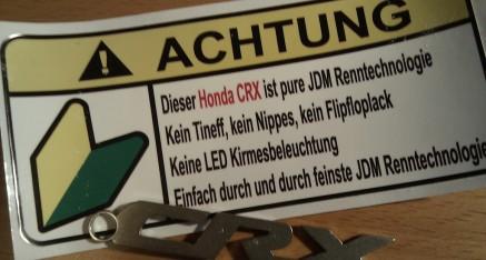 www.alles-liebesgeschenke.de: cooler Aufkleber für den Rex und einen CRX-Schlüsselanhänger aus Aluminium